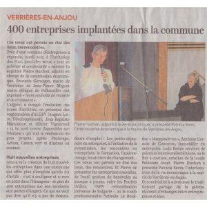 Article presse CO 20200129 Voeux entr Verrières - ETOFFE DE SOI - Cours de couture et bar à couture Angers