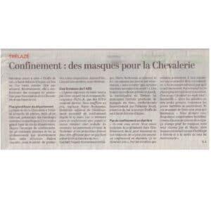 Article presse CO 20200401 Chevalerie - ETOFFE DE SOI - Cours de couture et bar à couture Angers
